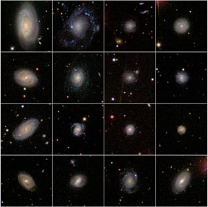 A sample of galaxies from the Sloan Digitized Sky Survey