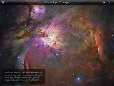 The ESA/Hubble Top 100 Images iPad App Screenshot