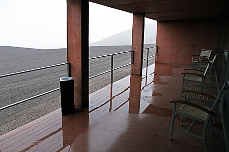 View from the ESO Residencia at Paranal during a rare storm
