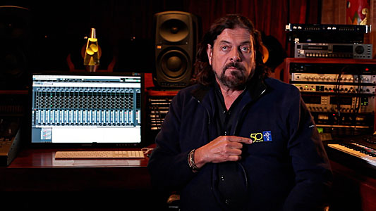 Screenshot of Alan Parsons in an ESO 50th anniversary congratulatory video compilation