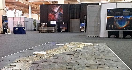 ESO exhibition area at the CELAC–EU summit in Santiago