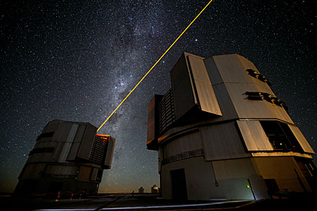 The new PARLA laser in operation at ESO's Paranal Observatory