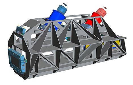 Engineering rendering of the ESPRESSO instrument