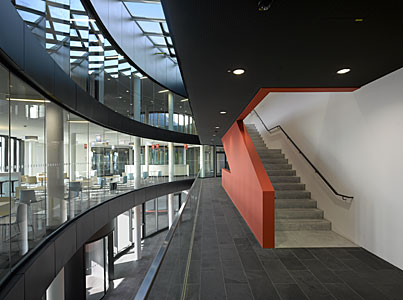 An interior view of the ESO Headquarters Extension