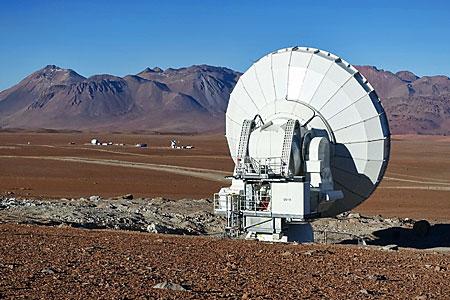 A distant ALMA antenna