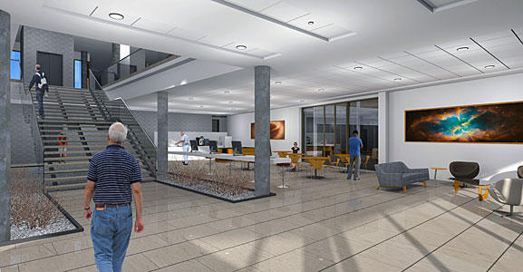 ALMA Residencia: Interior View Access Hall & Lounge, 1st Floor Main Building