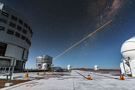 First light of new laser on Adaptive Optics Facility at Paranal