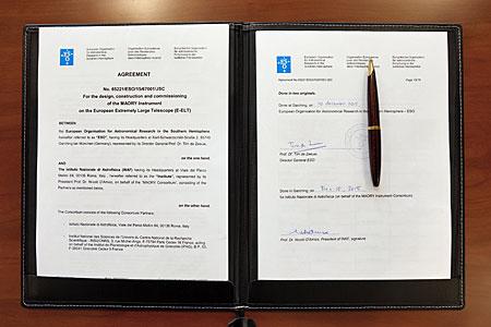 Agreement signed for E-ELT MAORY adaptive optics system