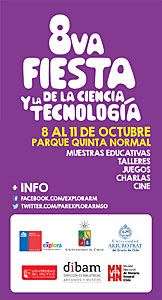 Brochure for the Chilean event VIII Fiesta de la Ciencia 2014