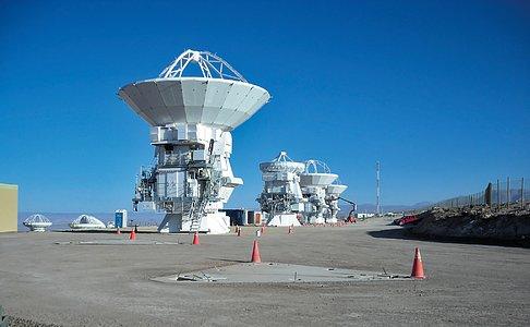 Japanese antennas at ALMA OSF