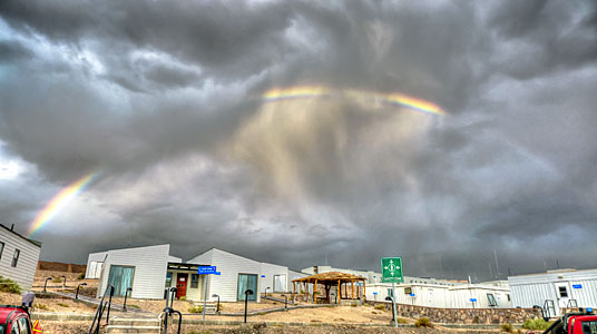 Rainbow over ALMA OSF