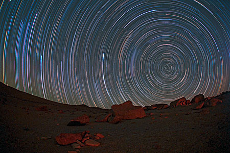 Circumpolar startrails over the Atacama