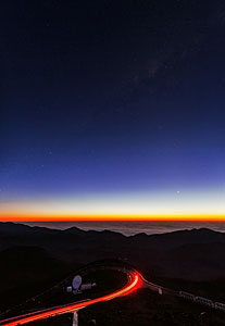 Looking down from Paranal at sunset