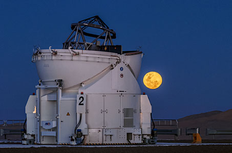 The Auxiliary Telescope and the Moon