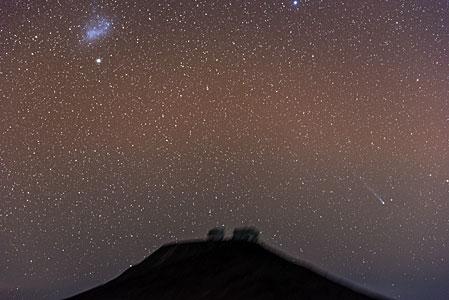 Comet Streaks Over Paranal