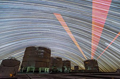 Laser Guide Star Trails