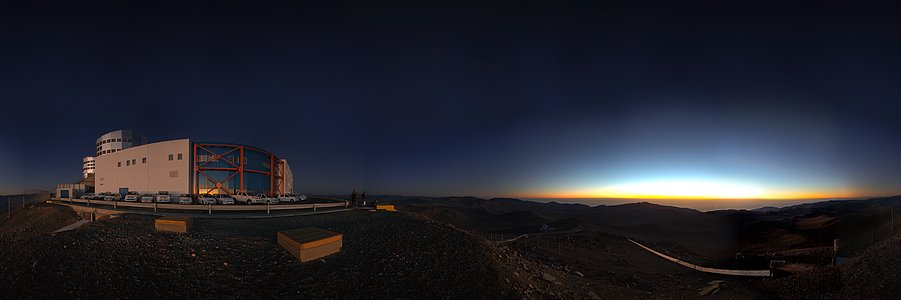 Panorama of VLT and control building