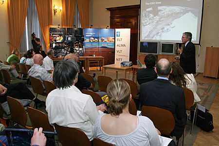 Claus Madsen speaking at ESO Information Day