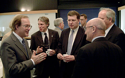 Bavarian members of the European Parliament visiting ESO Headquarters