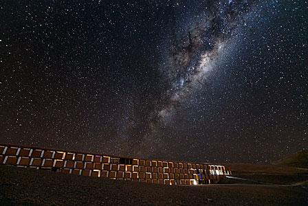 La Vía Láctea sobre La Residencia