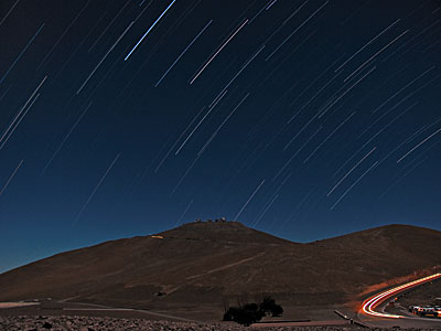 Startrails Over Paranal