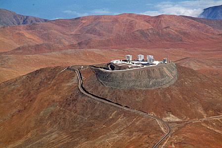 Vista aérea de Cerro Paranal