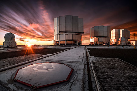Shining down on Paranal