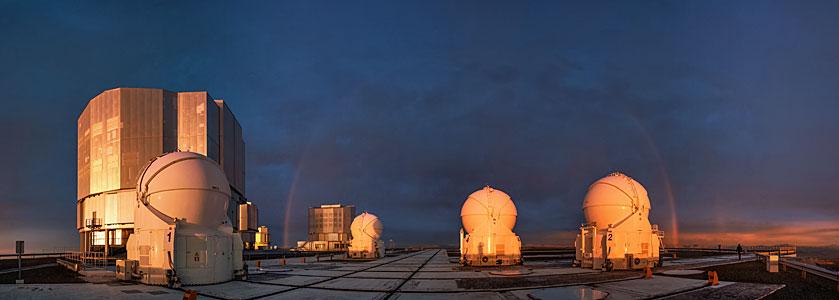 Rainbow over Paranal