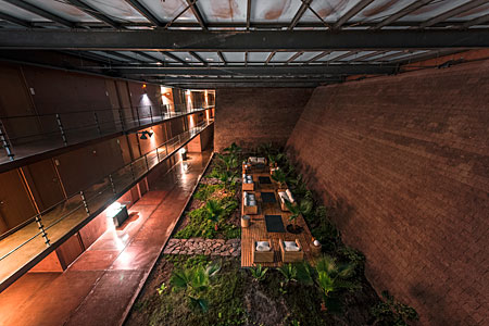 Oasis inside the Paranal Residencia