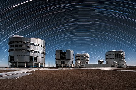 Star Trails Over Paranal