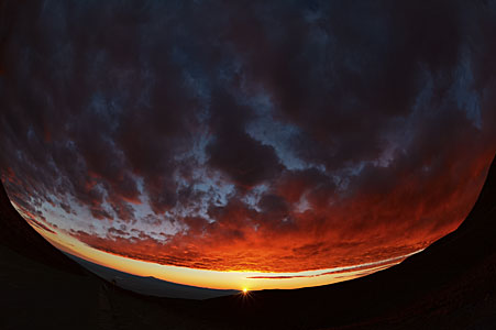 Sunset at Chajnantor