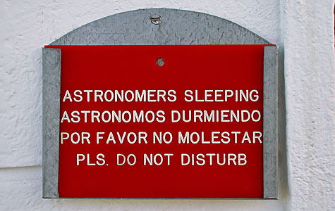 Astronomers sleeping