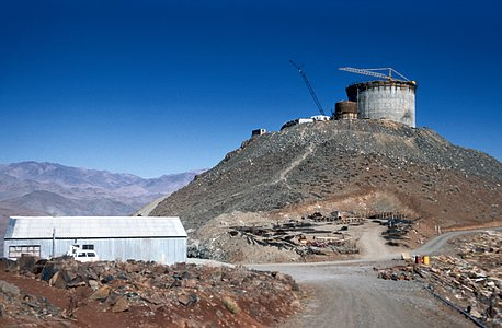 The ESO 3.6-metre telescope Under Construction