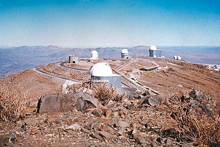 La Silla view with Danish 1.5-metre Telescope under construction
