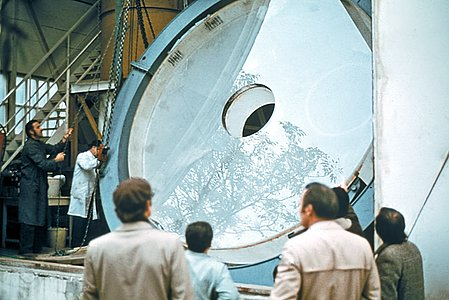 Primary mirror of the ESO 3.6-metre telescope