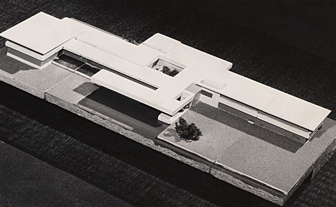 Architectural model of the planned ESO Vitacura offices