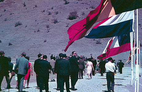 Dedication ceremony for the road to the summit of La Silla.
