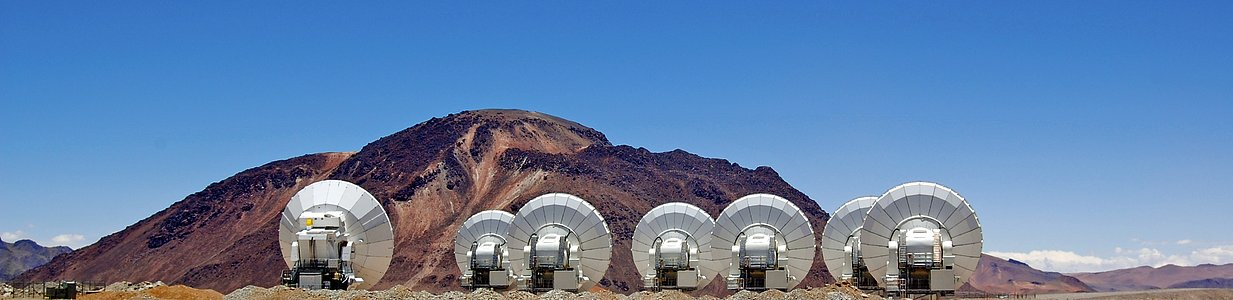 ALMA antennas on display