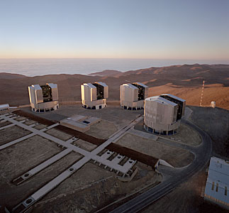 The VLT Array on the Paranal Mountain