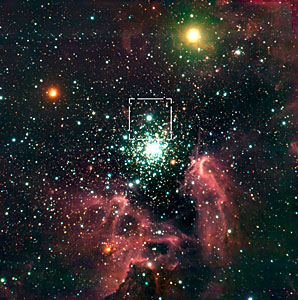 The star-forming region around NGC 3603