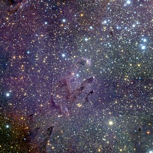 Keimzellen der Sternentstehung im Adlernebel
