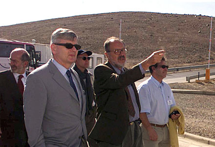 German Foreign Minister at Paranal