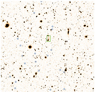 Faint, Distant Cluster of Galxies