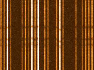 """First light"" stellar spectra from Giraffe (detail)"