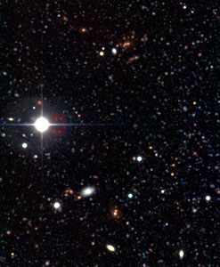 Distant galaxies in NGC 300 field