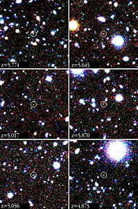 Close-up images of Some of the Most Distant Galaxies Known