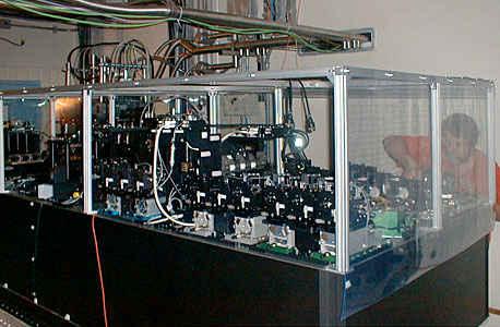 AMBER at the VLT Interferometric Laboratory
