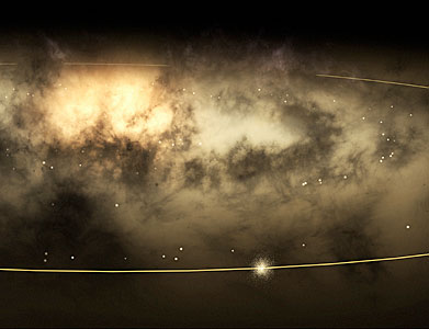 Solar Neigbourhood Stars in the Milky Way galaxy (artist's view).