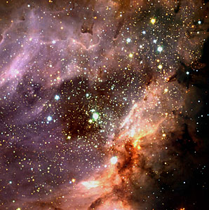 Stellar cluster and star-forming region M 17