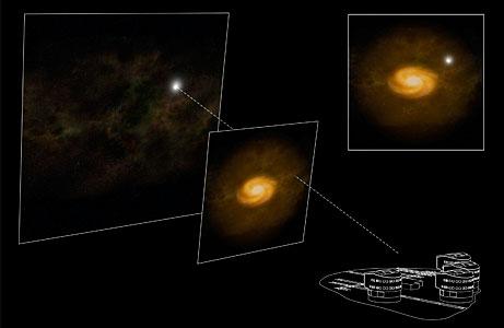 Chasing 'Hidden' Galaxies (Artist's Impression)